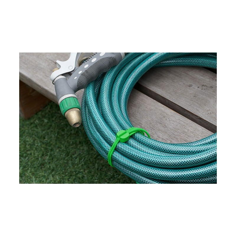 Bluelounge Pixi elastiek (kabelhouder) large 6-pack groen en zwart