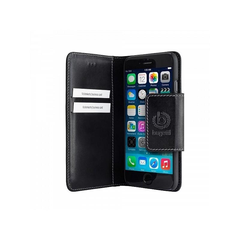 Bugatti Book Case Amsterdam iPhone 6(S) leder zwart