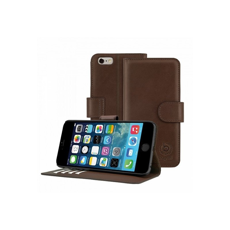 Bugatti Book case Milano wallet leer iPhone 6(S)