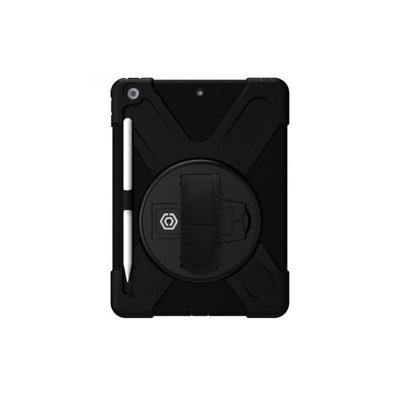 Casecentive Handstrap Hardcase met handvat iPad 10.2 (2019) zwart