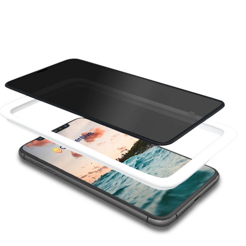 Casecentive Privacy Glass Screenprotector 3D full cover iPhone 11