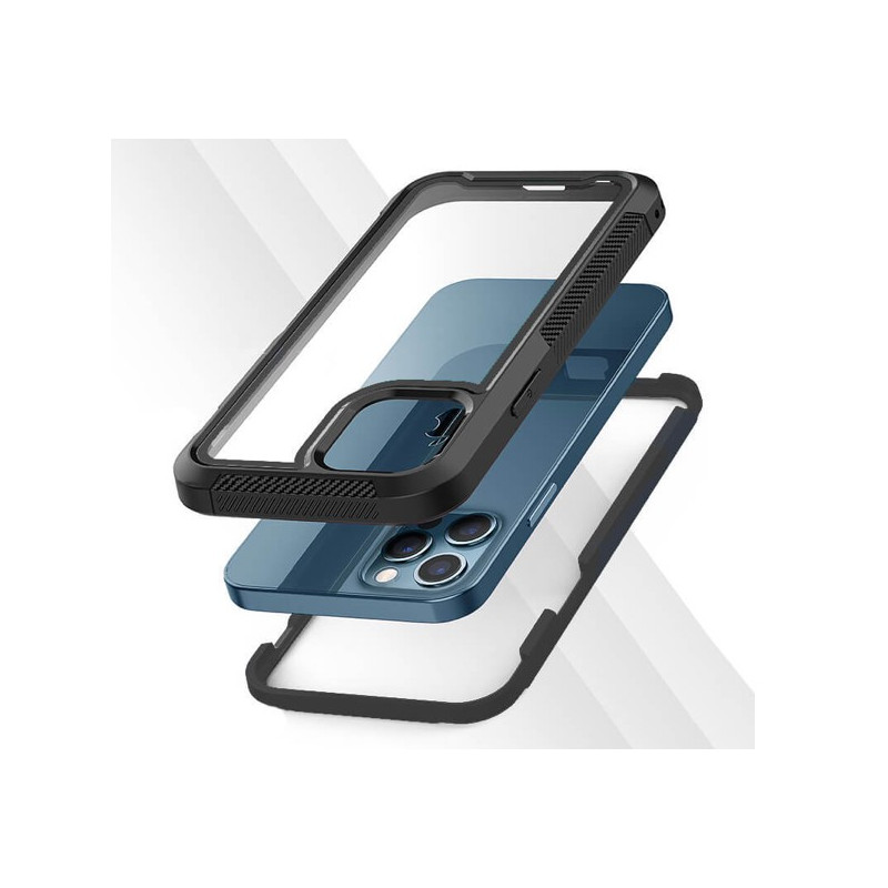 Casecentive Shockproof case iPhone 12 Mini clear