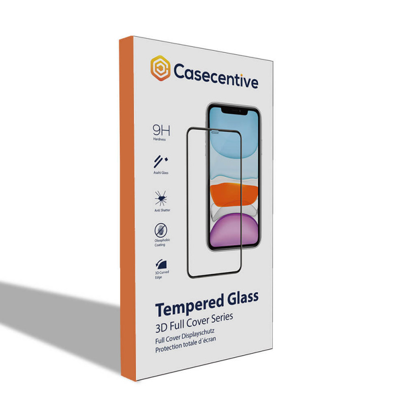 Casecentive Glass Screenprotector 3D full cover iPhone 11