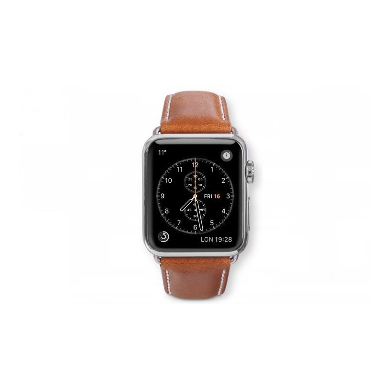 Dbramante1928 Kopenhagen Apple Watch bandje 42mm grijs/bruin