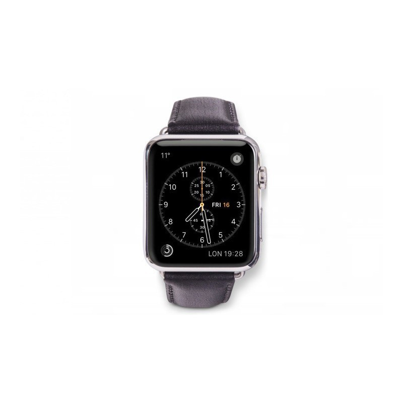 Dbramante1928 Kopenhagen Apple Watch bandje 42mm grijs/zwart