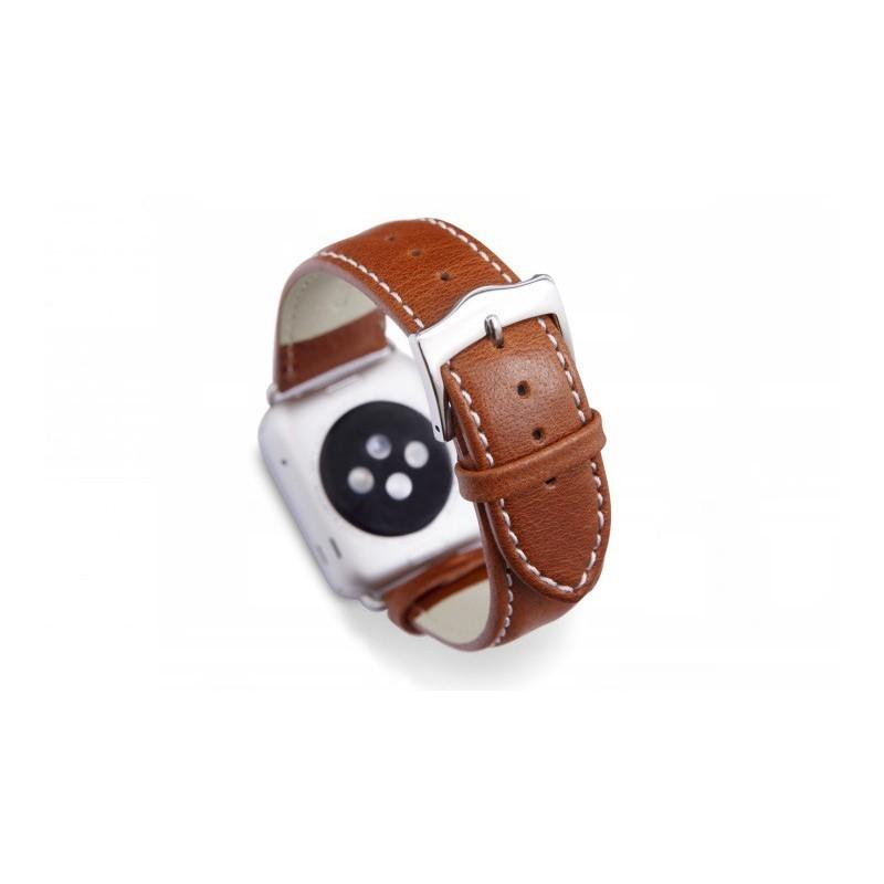 Dbramante1928 Kopenhagen Apple Watch bandje 42mm zilver/bruin