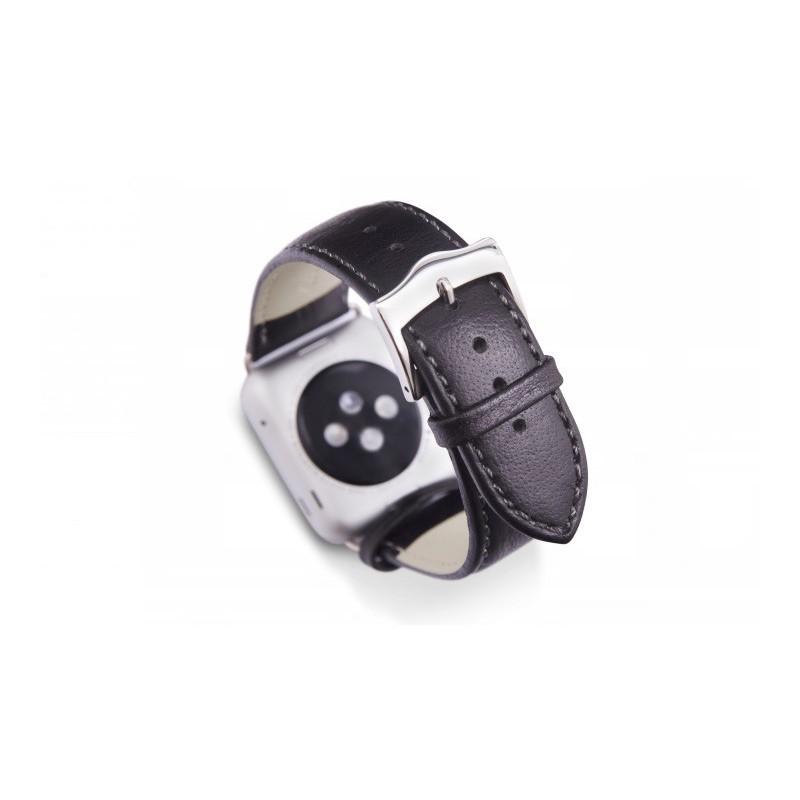Dbramante1928 Kopenhagen Apple Watch bandje 42mm zilver/zwart