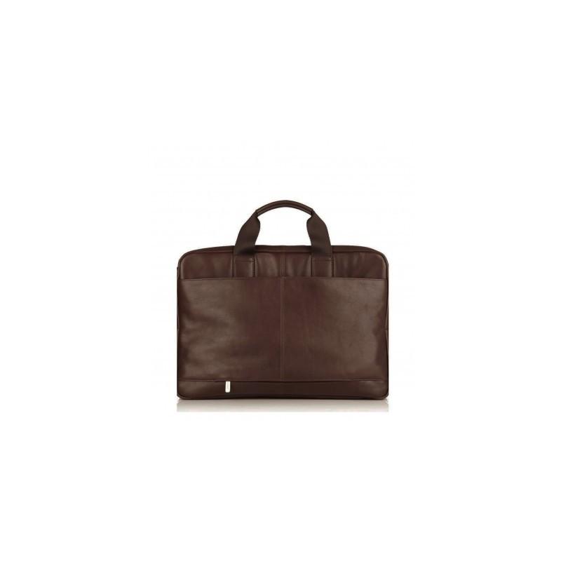 Knomo Newbury Single Zip Brief 15 inch bruin