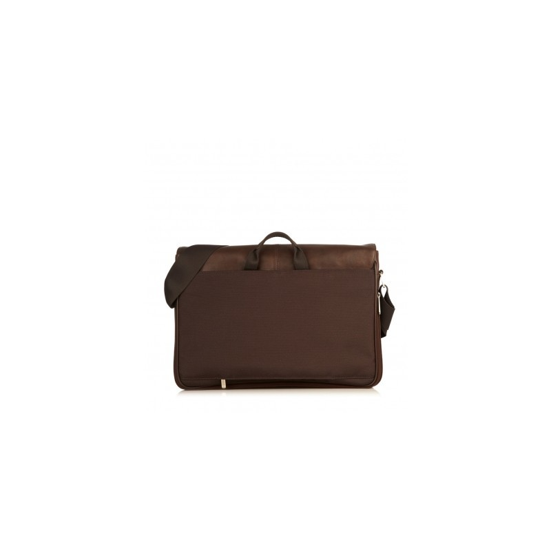 Knomo Bungo Expandable Messenger 15.6 inch bruin