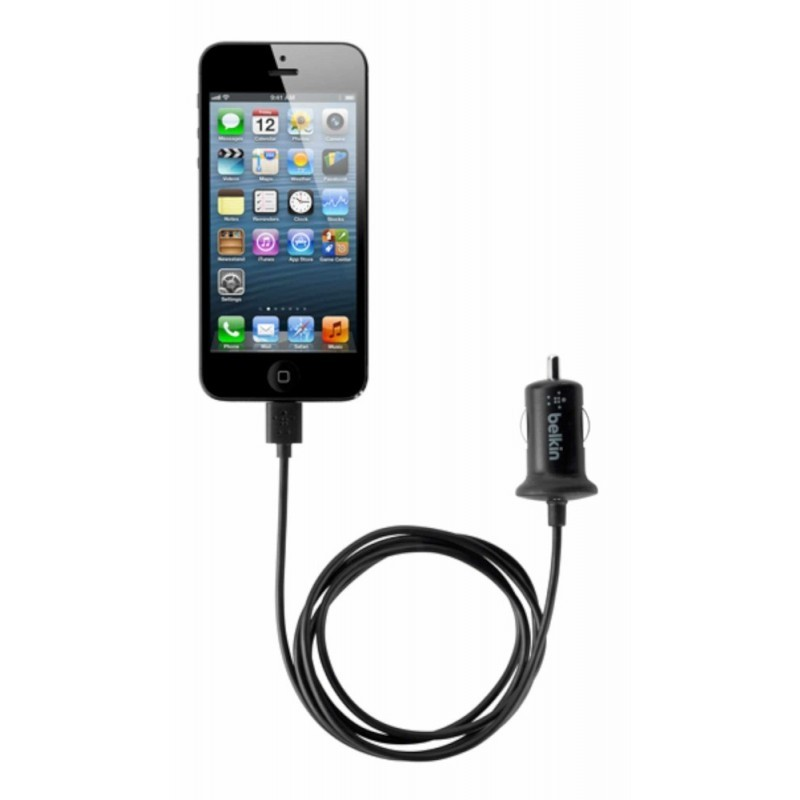 Belkin Lightning connector autolader 2.1 A iPad Mini, iPad 4, iPhone 5