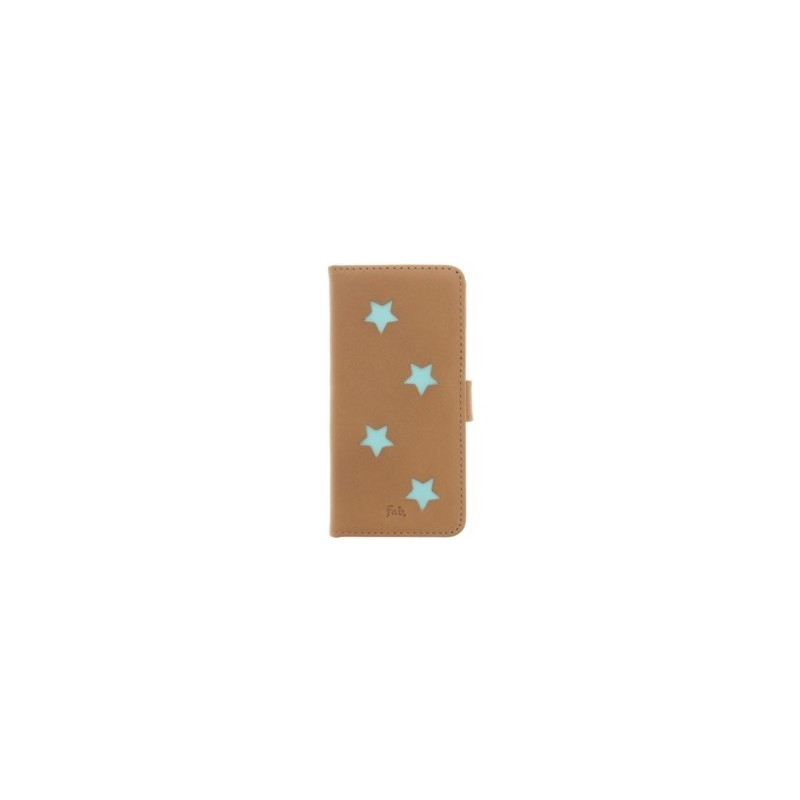 Fab. Aqua Reversed Star Book Case iPhone 6(S)