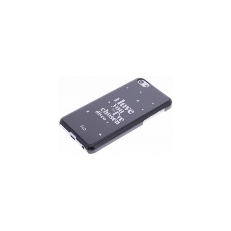 Fab. Disco Glitter Hard Case iPhone 5C zwart