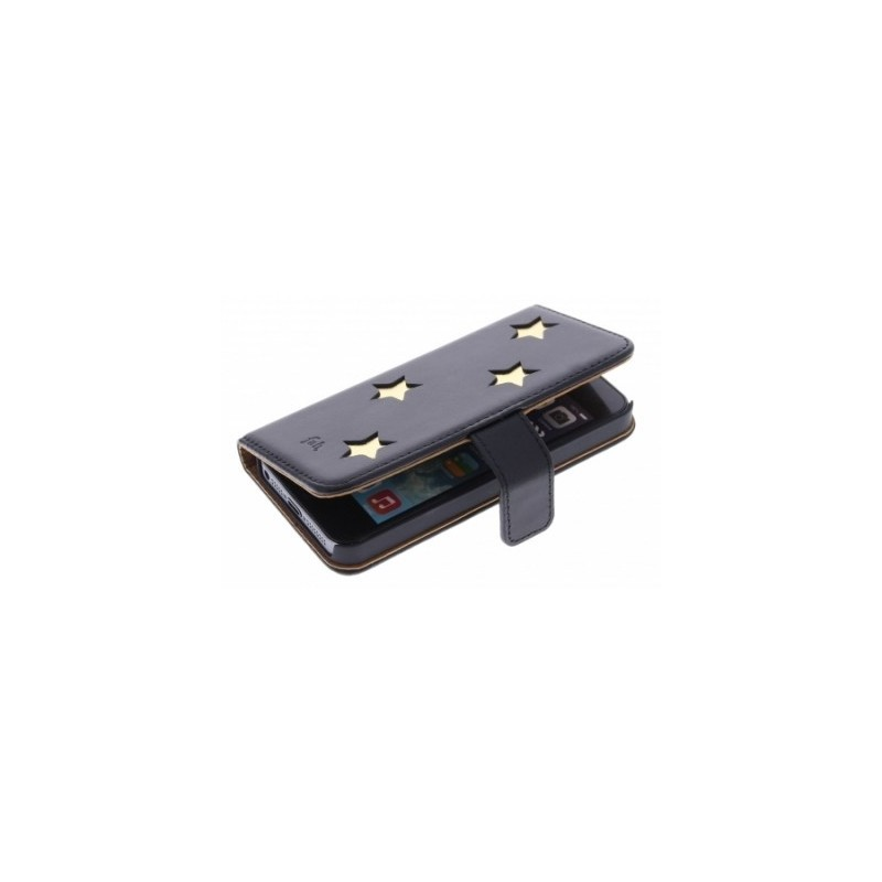 Fab. Star Book Case iPhone 5(S) zwart