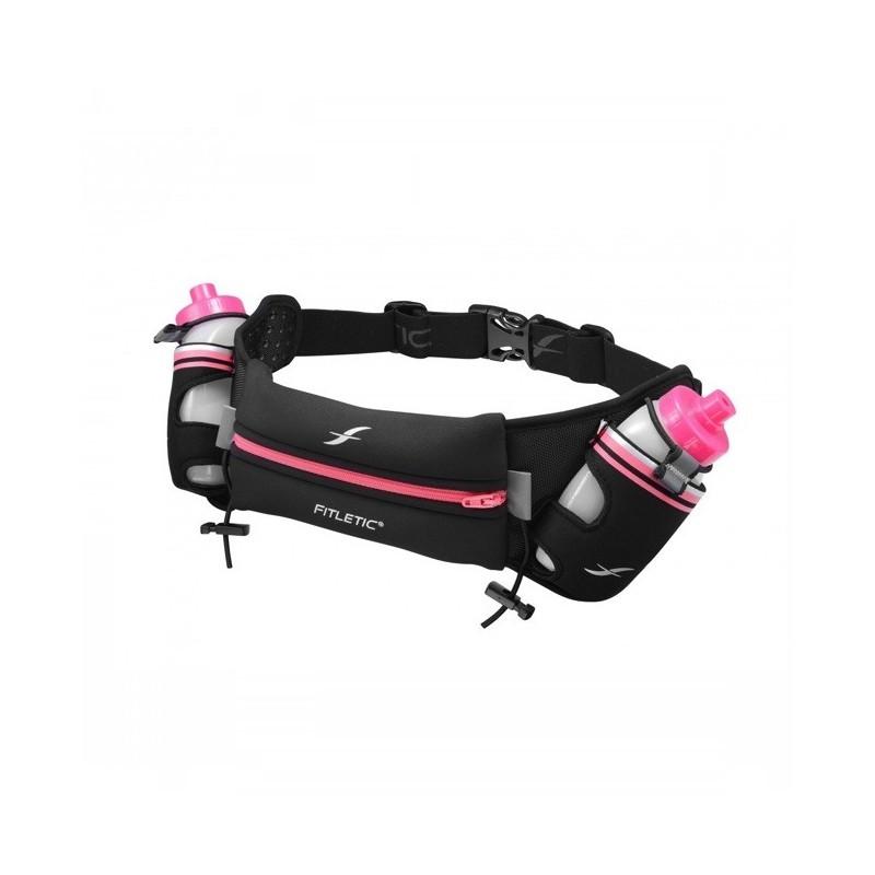 Fitletic drinkgordel zwart/roze HD08-08S
