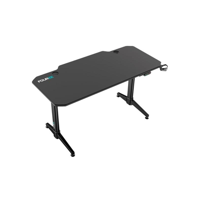 Fourze D1400-E verstelbare gaming desk zwart