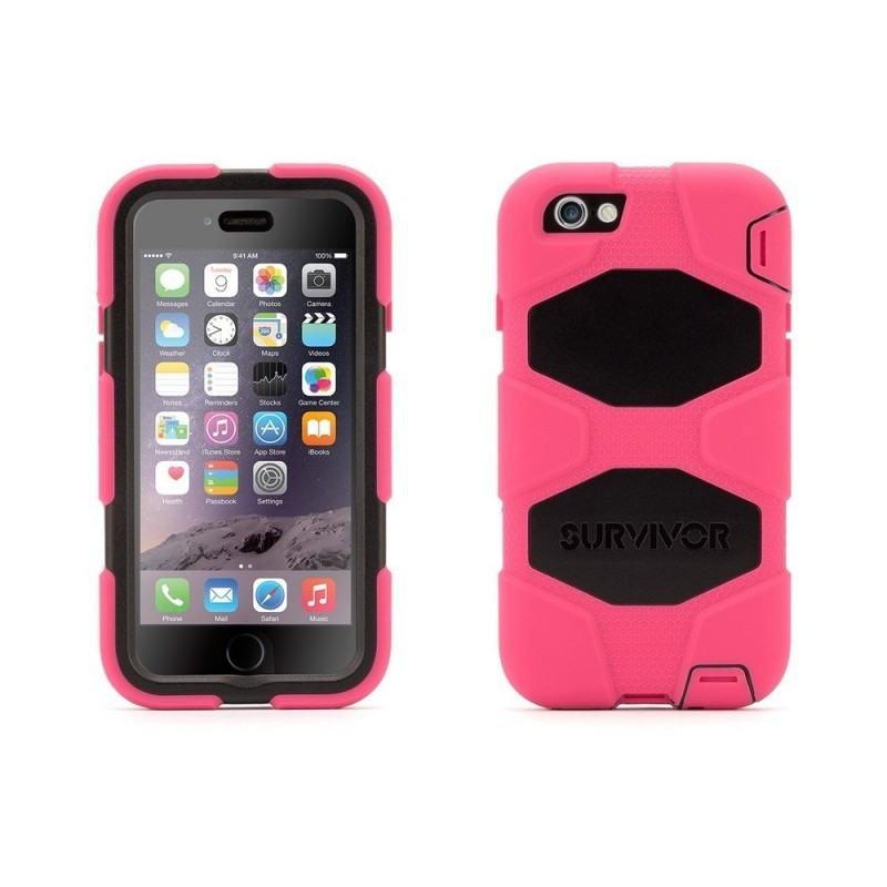 Griffin Survivor Extreme Duty hardcase iPhone 6(S) roze/zwart (GB38904)