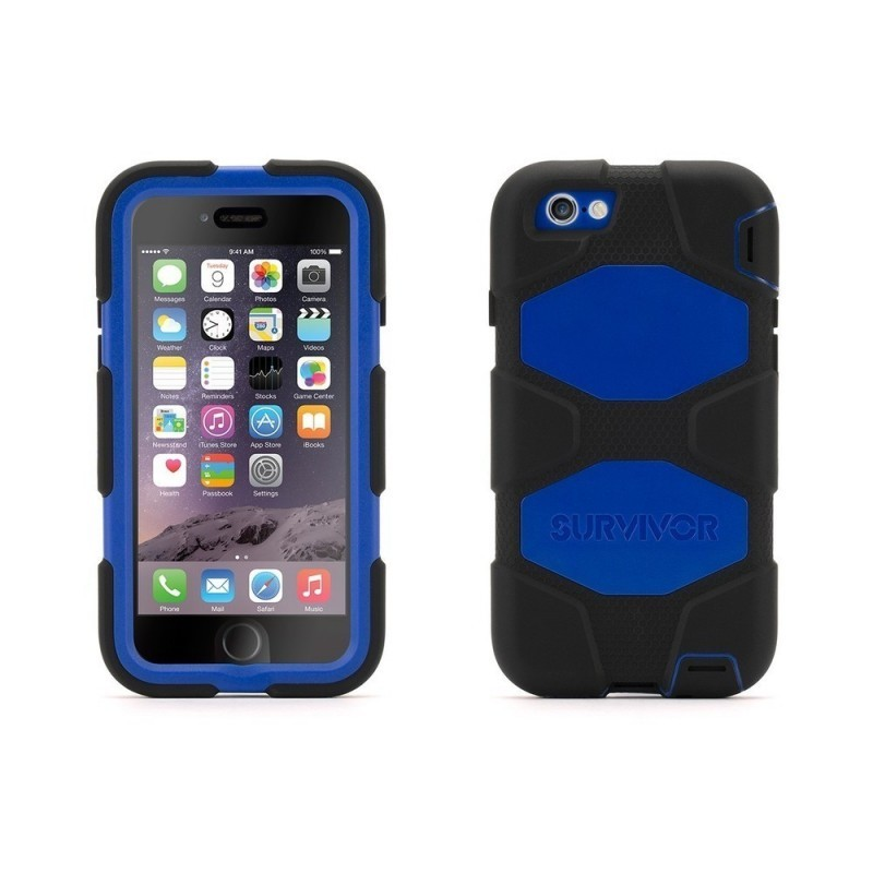 Griffin Survivor hardcase iPhone 6(S) blauw/zwart