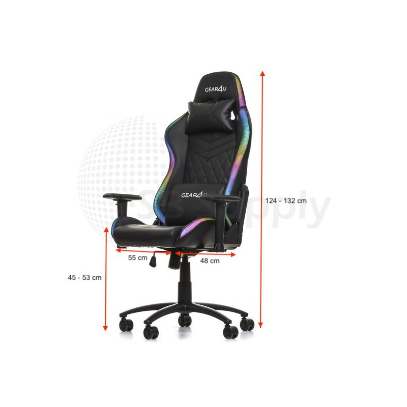 Gear4U Illuminated gaming chair RGB zwart