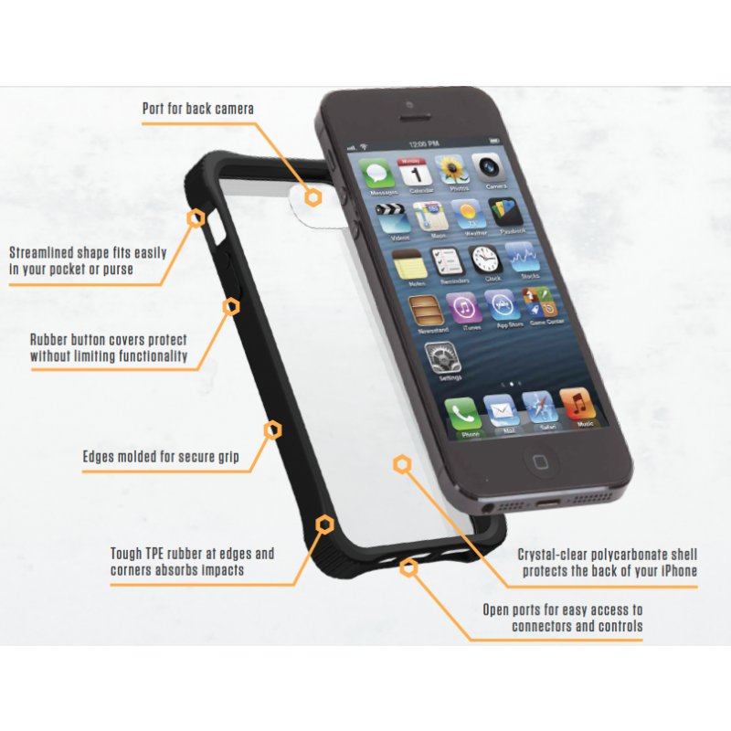 Griffin Survivor Core hardcase iPhone 5(S)/SE transparant