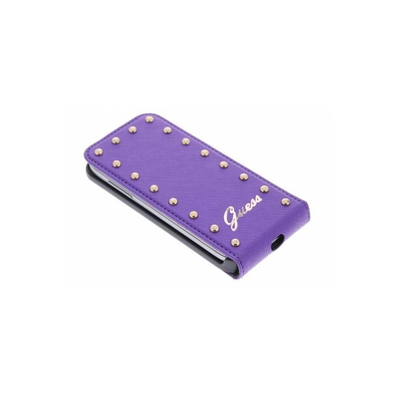 Studded Galaxy S4 Mini Flip Case Purple