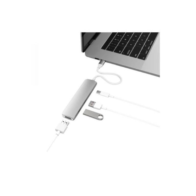 HyperDrive USB-C Adapter HDMI USB 3.1 zilver