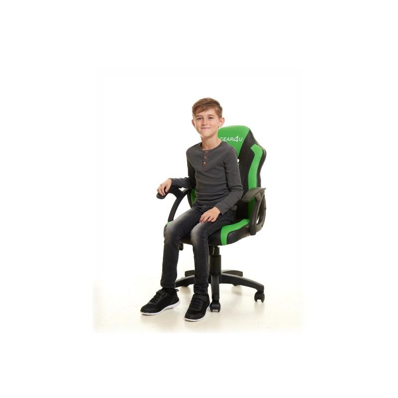 Gear4U Junior Hero gaming chair groen / zwart
