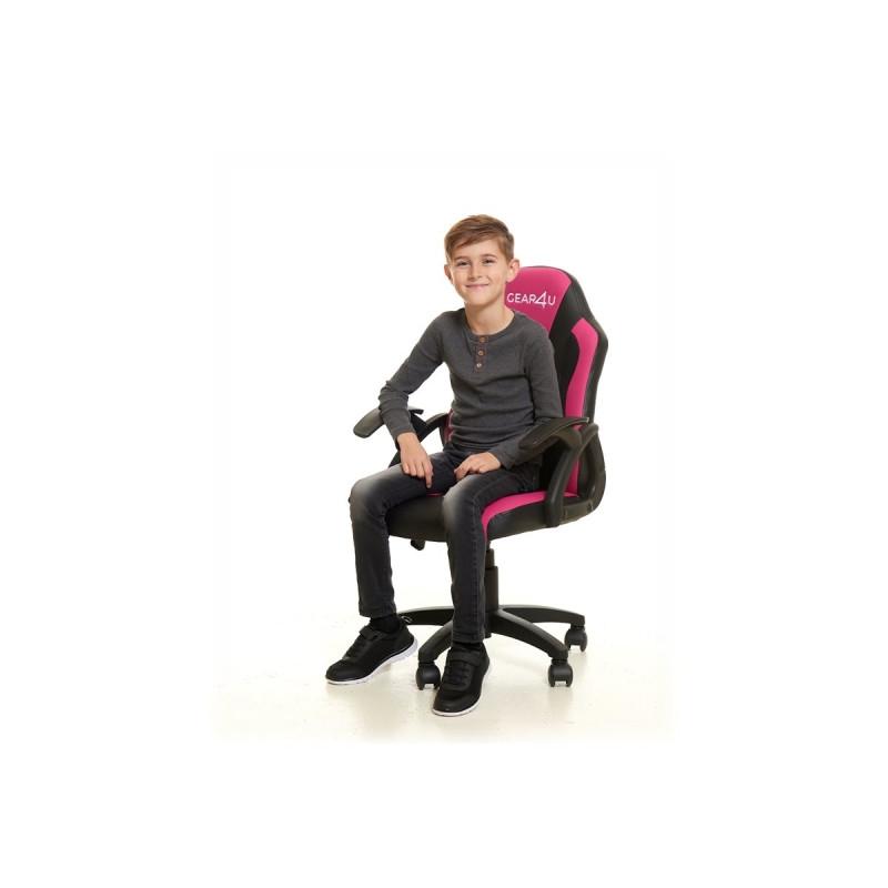 Gear4U Junior Hero gaming chair roze / zwart