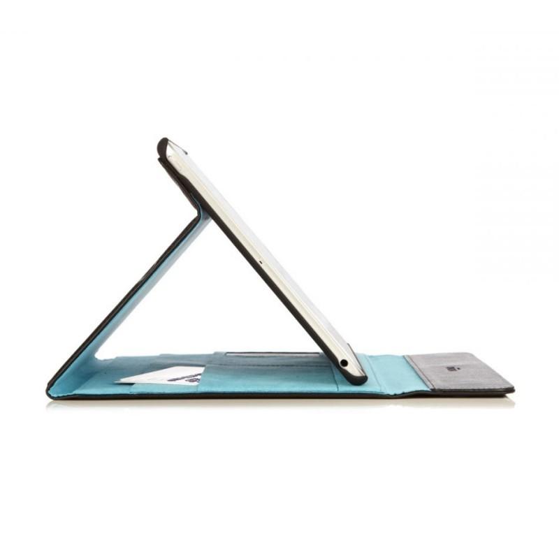 Knomo Premium Leren Folio case iPad Air 1 zwart