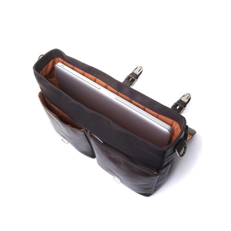 Knomo Jackson Briefcase (aktetas) 15 inch leer bruin