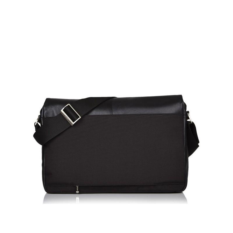 Knomo Kobe Messenger Bag V2 leer zwart
