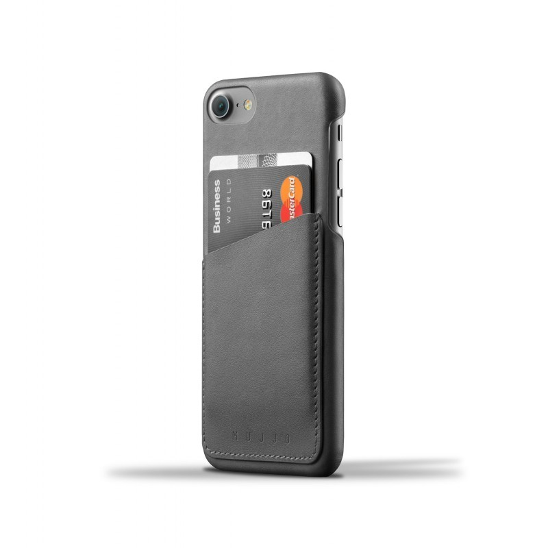 Mujjo wallet leren case iPhone 7 / 8 zwart