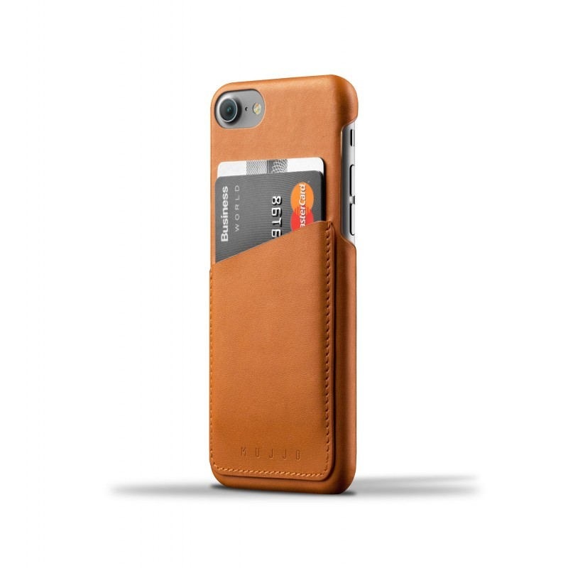 Mujjo wallet leren case iPhone 7 / 8 bruin