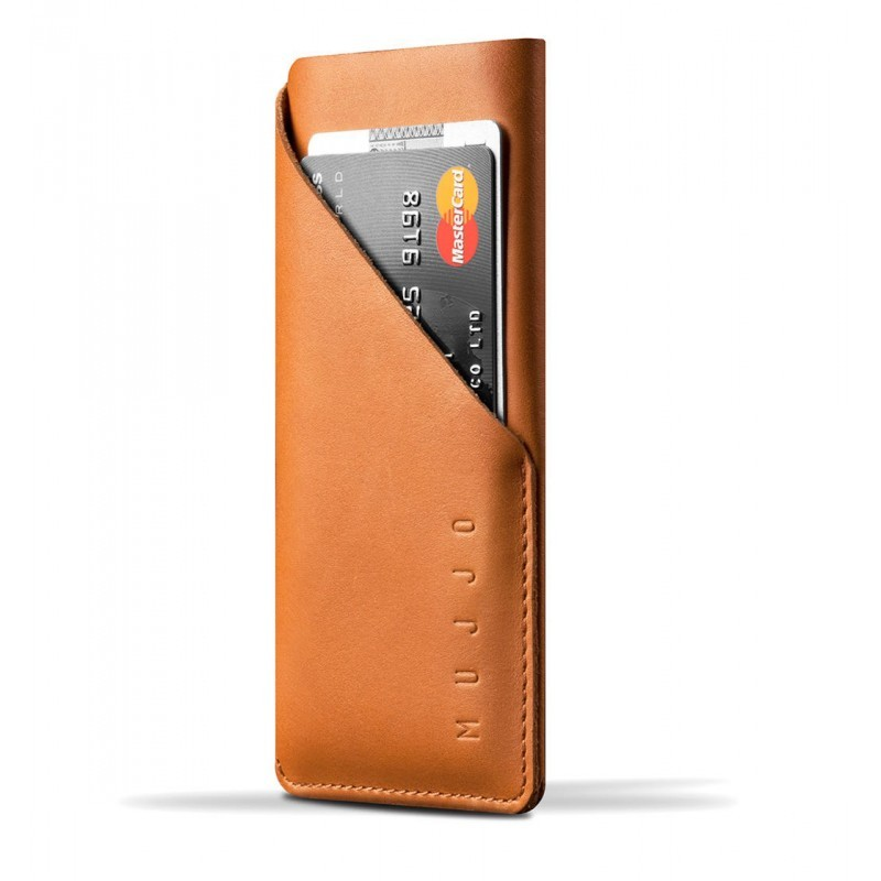 Mujjo Slim-Fit wallet leren sleeve iPhone 6 bruin