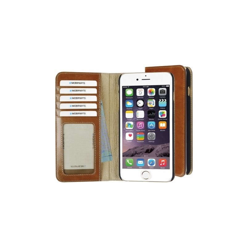 Mobiparts Excellent Wallet Case iPhone 7 / 8 Oaked Cognac