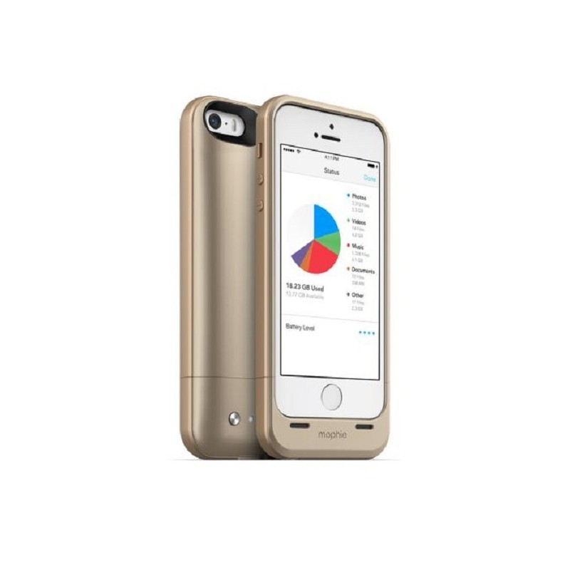 Mophie space Pack 16 GB iPhone 5(S) goud