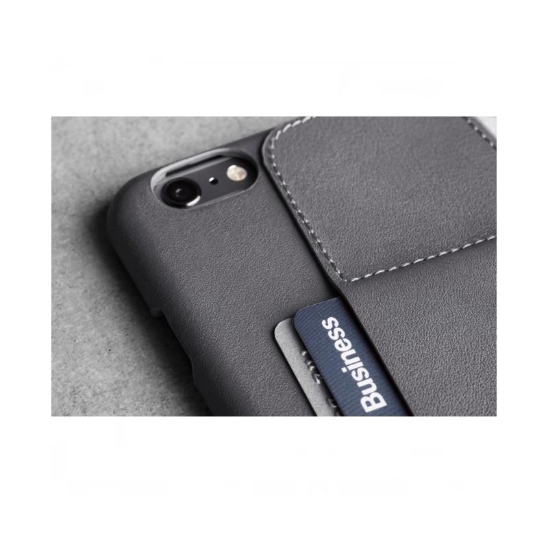 Muijo Leather Wallet Case 80 iPhone 6(S) grijs