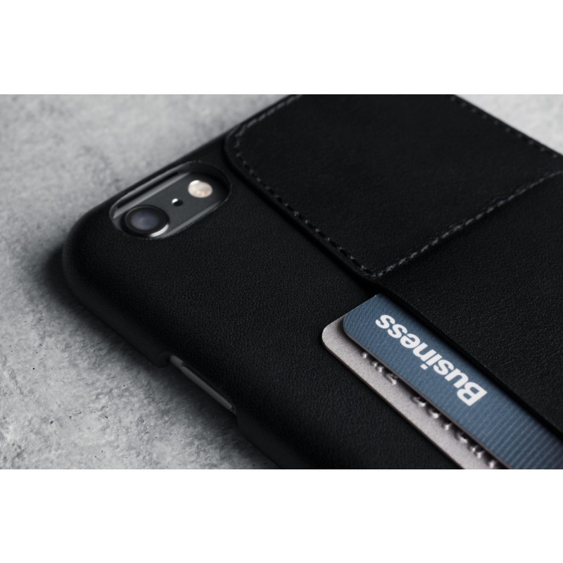 Mujjo Leather Wallet Case 80° iPhone 6(S) Plus zwart
