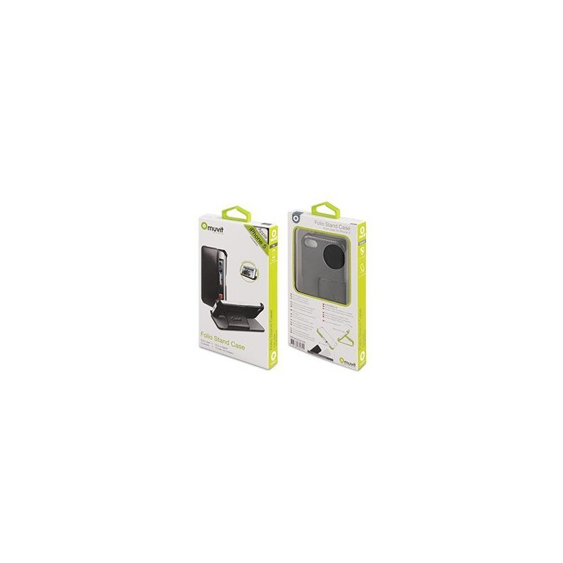 Muvit Folio Stand Case iPhone 5(S)/SE zwart