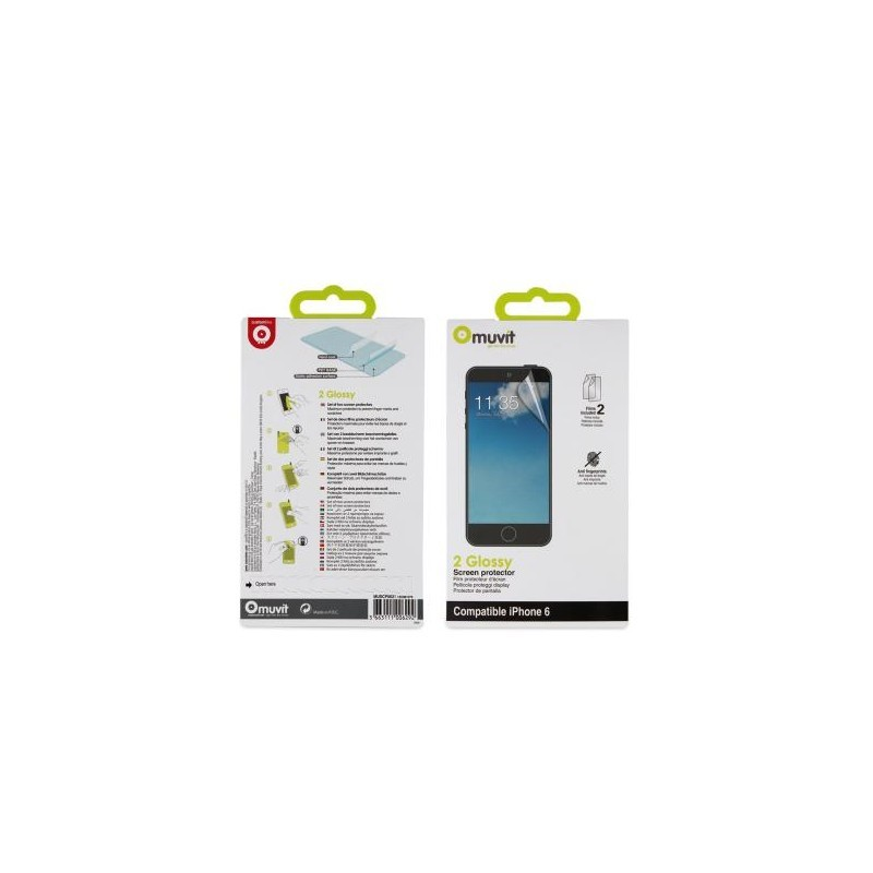 Muvit screenprotector iPhone 6(S) helder / glanzend (2-stuks)