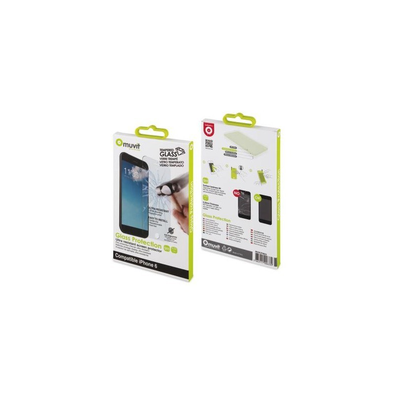Muvit glass screenprotector iPhone 6(S) Tempered Glass 0.33mm
