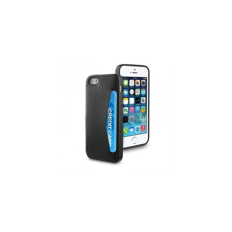 Muvit Leatherette Cardslot Case iPhone 5(S)/SE zwart