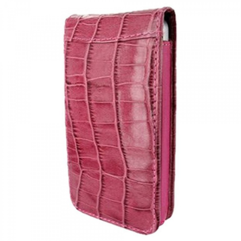 Piel Frama Magnetic iPhone 5(S)/SE Crocodile Fuchsia