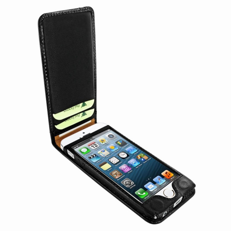 Piel Frama Magnetic iPhone 5(S)/SE Swarovski zwart