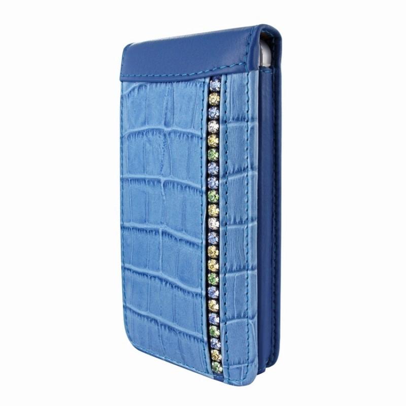 Piel Frama Magnetic iPhone 5(S)/SE Swarovski blauw