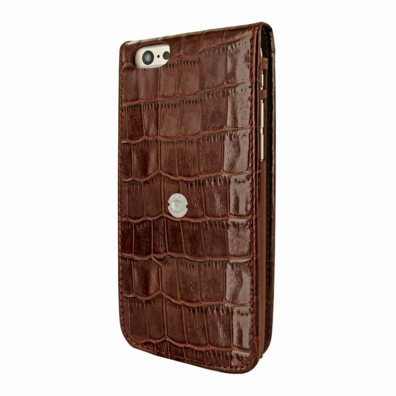 Piel Frama Magnetic iPhone 6(S) Croco bruin