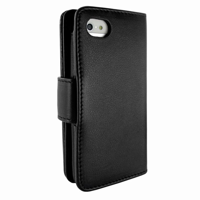 Piel Frama Wallet iPhone 5(S)/SE Swarovski zwart