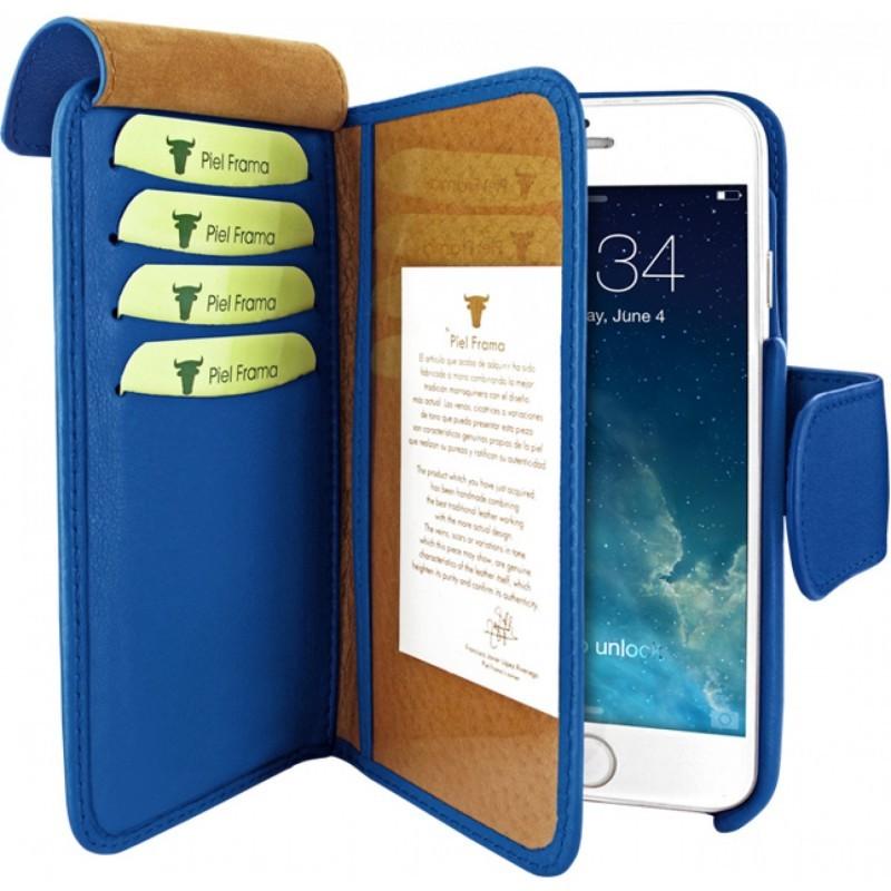 Piel Frama Wallet iPhone 6(S) donderblauw