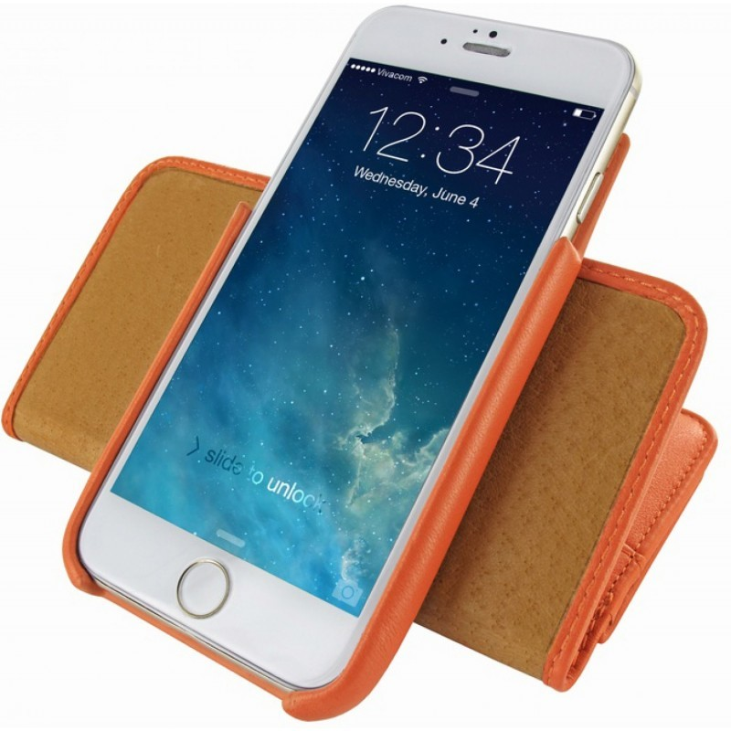 Piel Frama Wallet iPhone 6(S) oranje