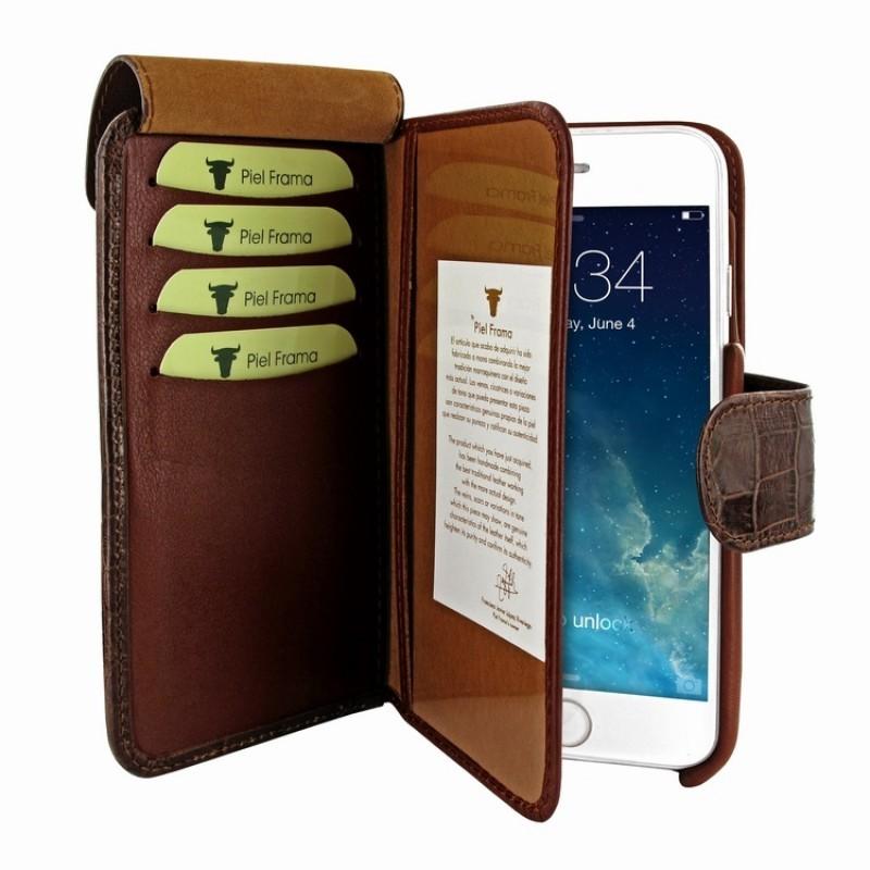 Piel Frama Wallet iPhone 6(S) Croco bruin