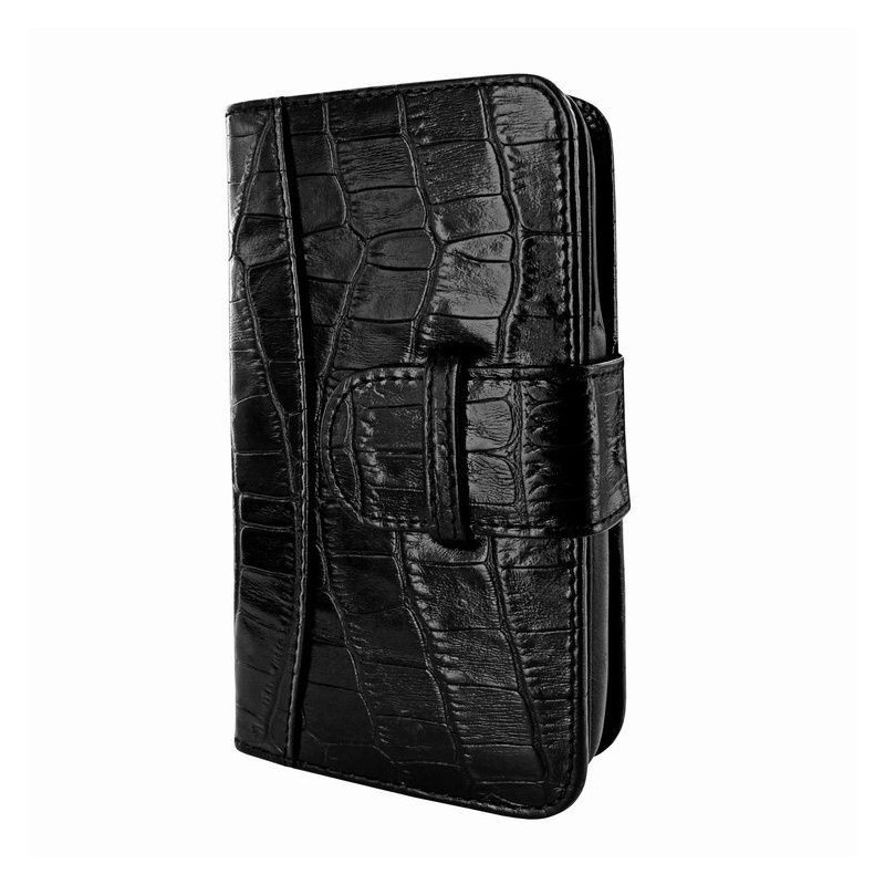 Piel Frama Wallet iPhone 6(S) Croco zwart